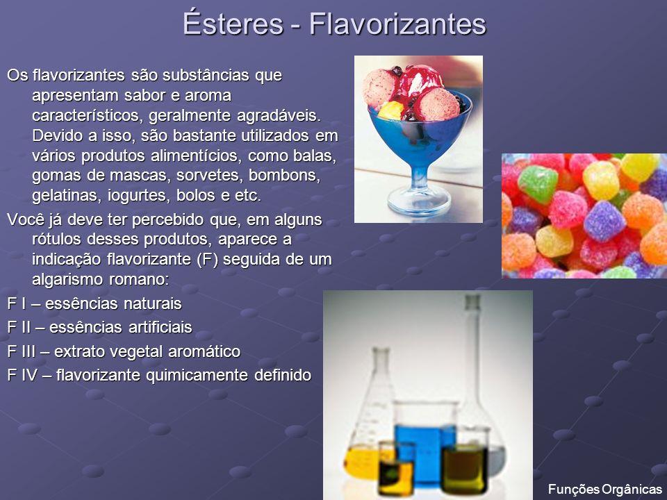 Ésteres - Flavorizantes