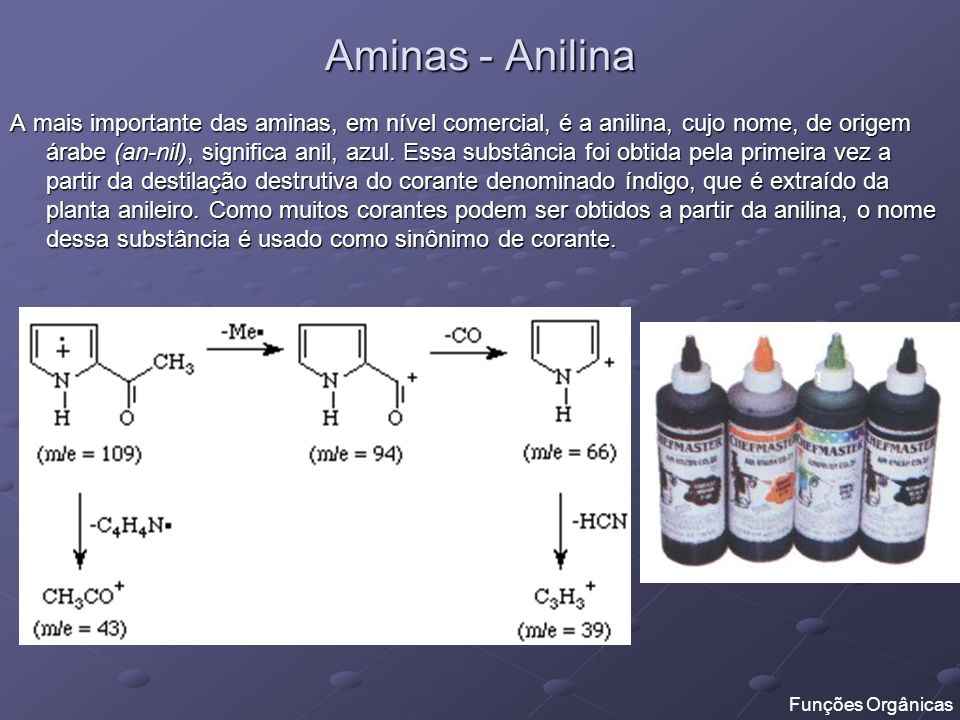 Aminas - Anilina
