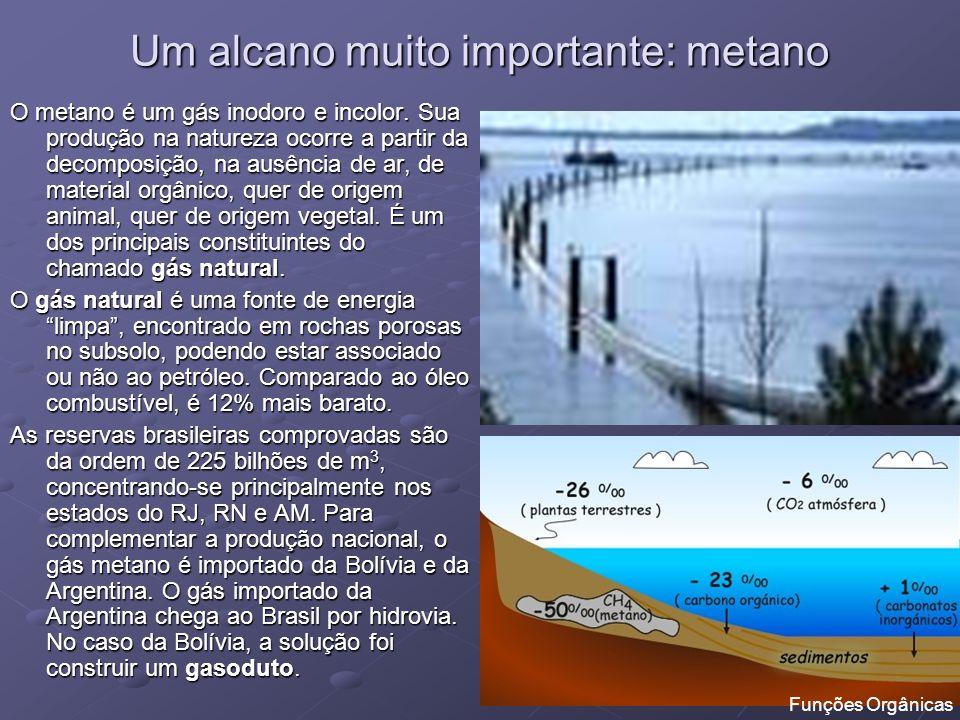 Um alcano muito importante: metano