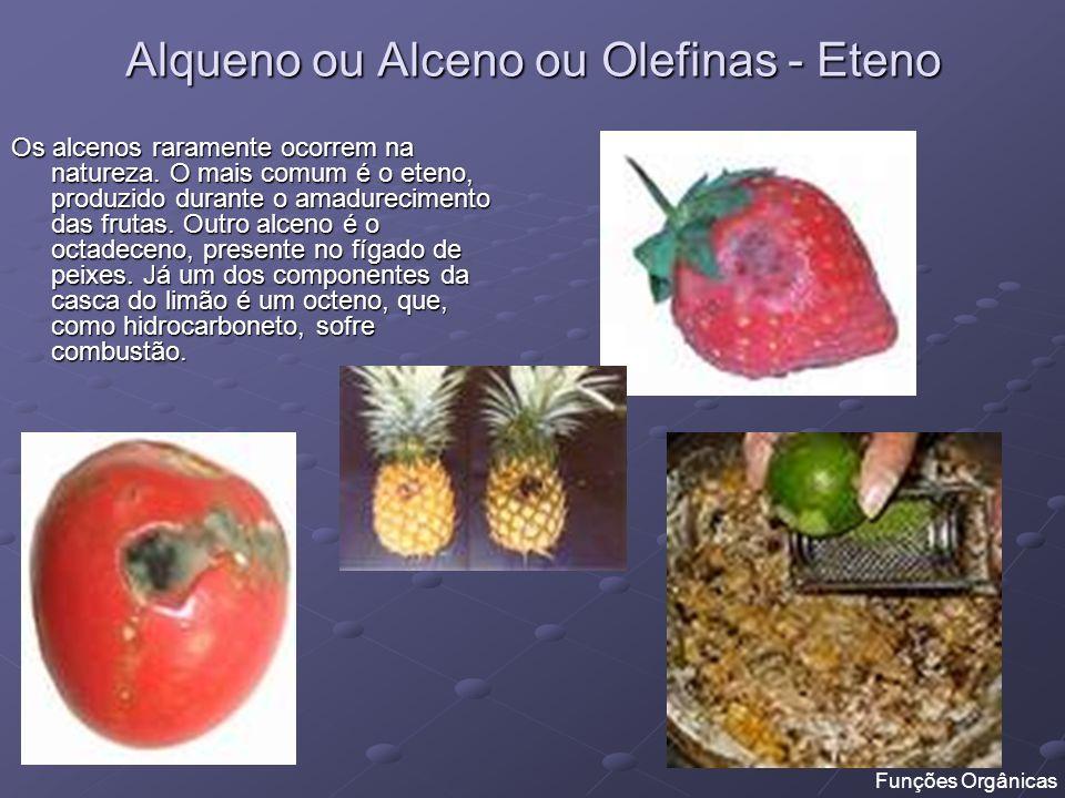 Alqueno ou Alceno ou Olefinas - Eteno