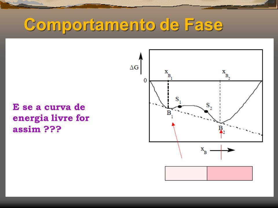 Comportamento de Fase E se a curva de energia livre for assim