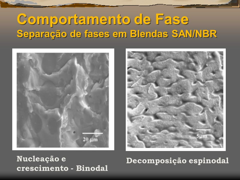 Comportamento de Fase Separação de fases em Blendas SAN/NBR