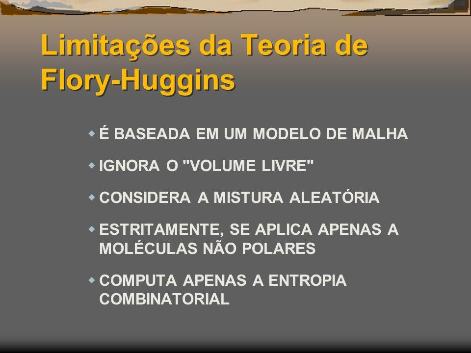 Limitações da Teoria de Flory-Huggins