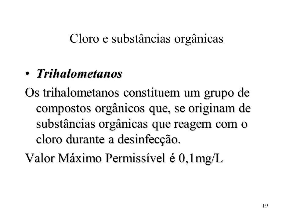 Cloro e substâncias orgânicas