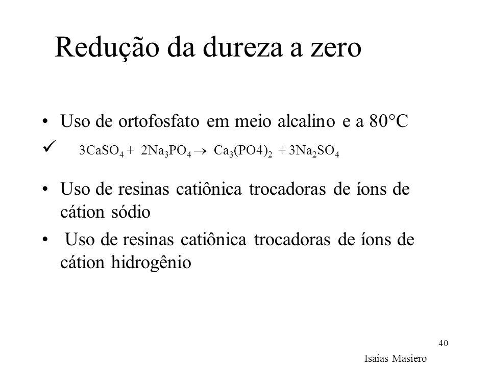 Redução da dureza a zero