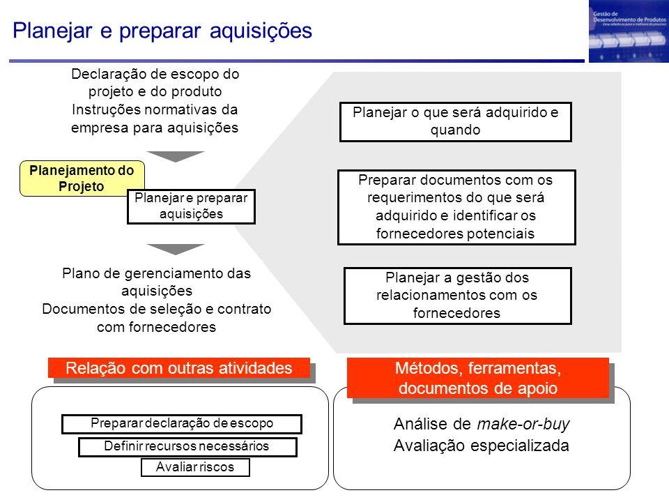 Planejar e preparar aquisições