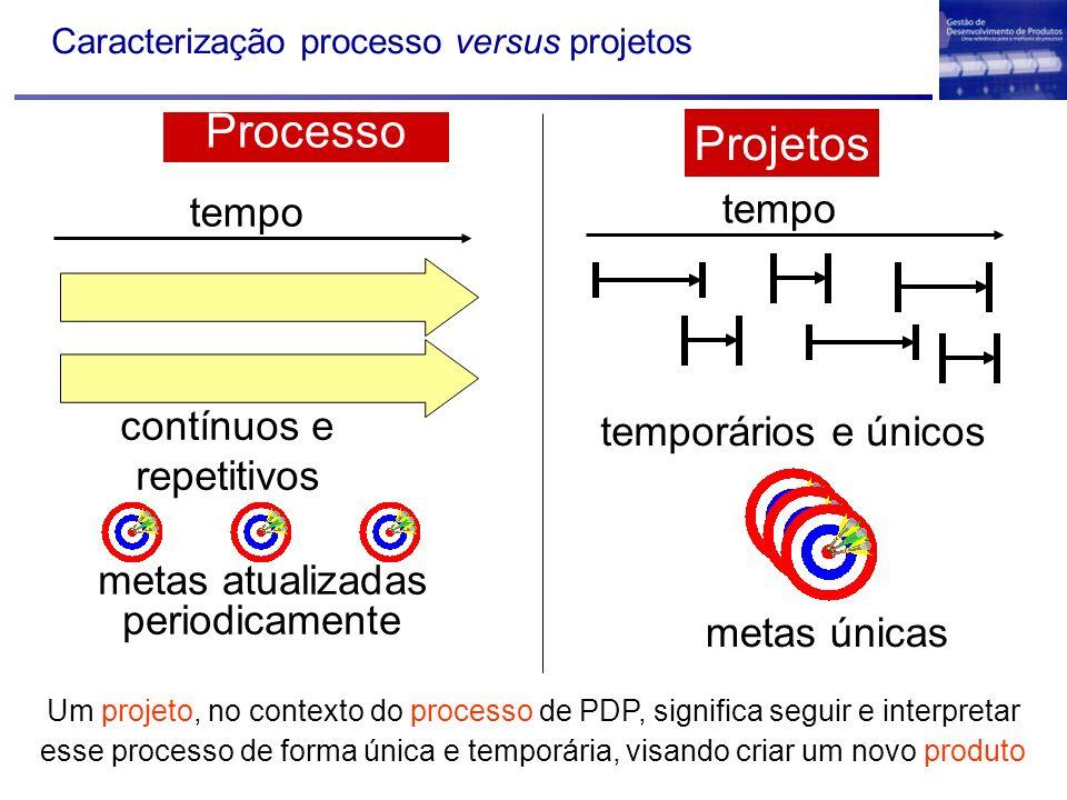 Caracterização processo versus projetos