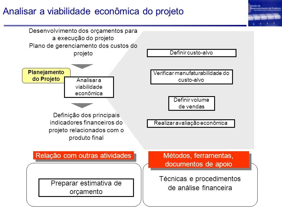 Analisar a viabilidade econômica do projeto