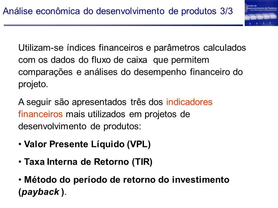 Análise econômica do desenvolvimento de produtos 3/3