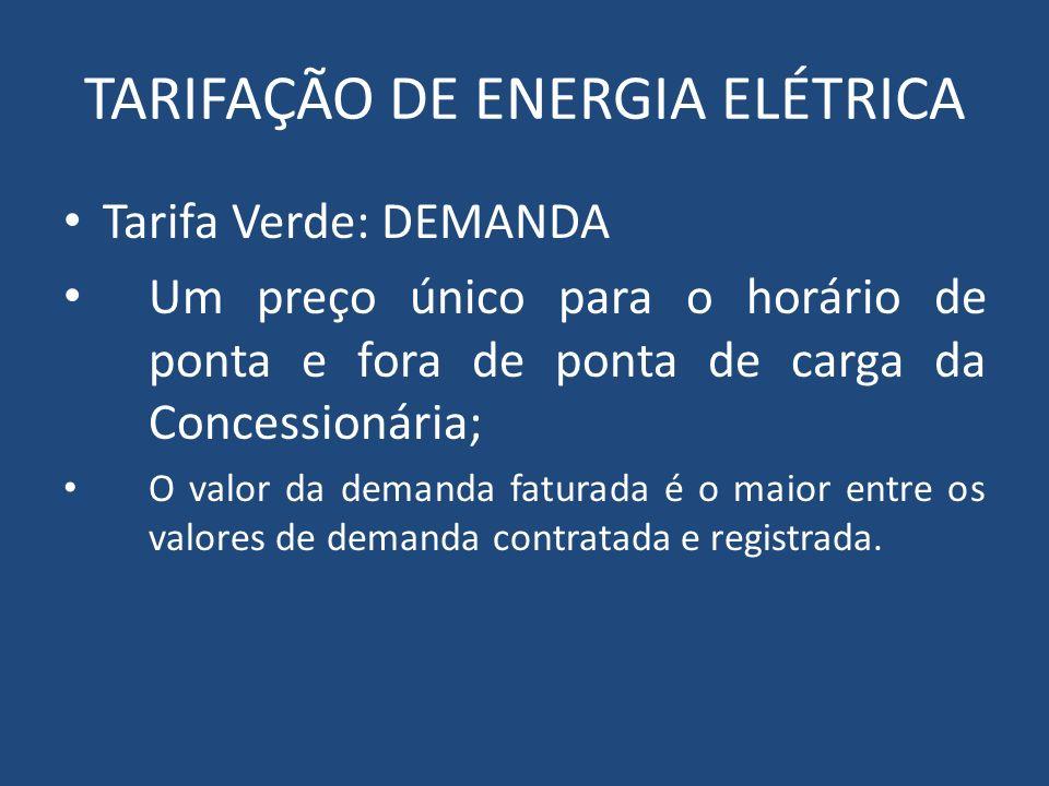 TARIFAÇÃO DE ENERGIA ELÉTRICA