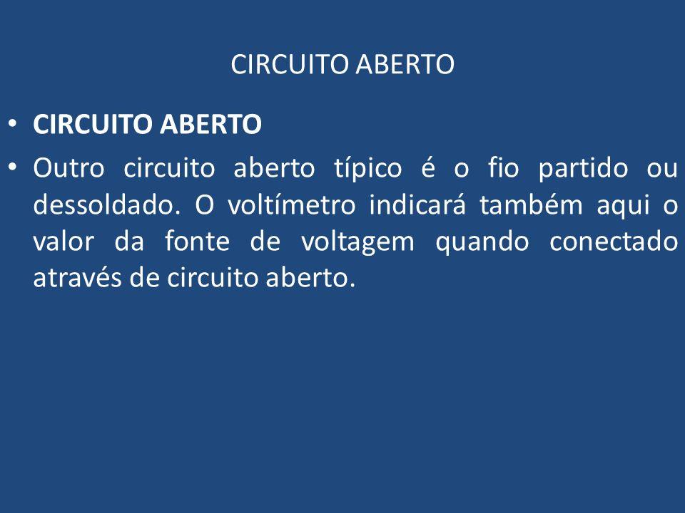 CIRCUITO ABERTO CIRCUITO ABERTO.