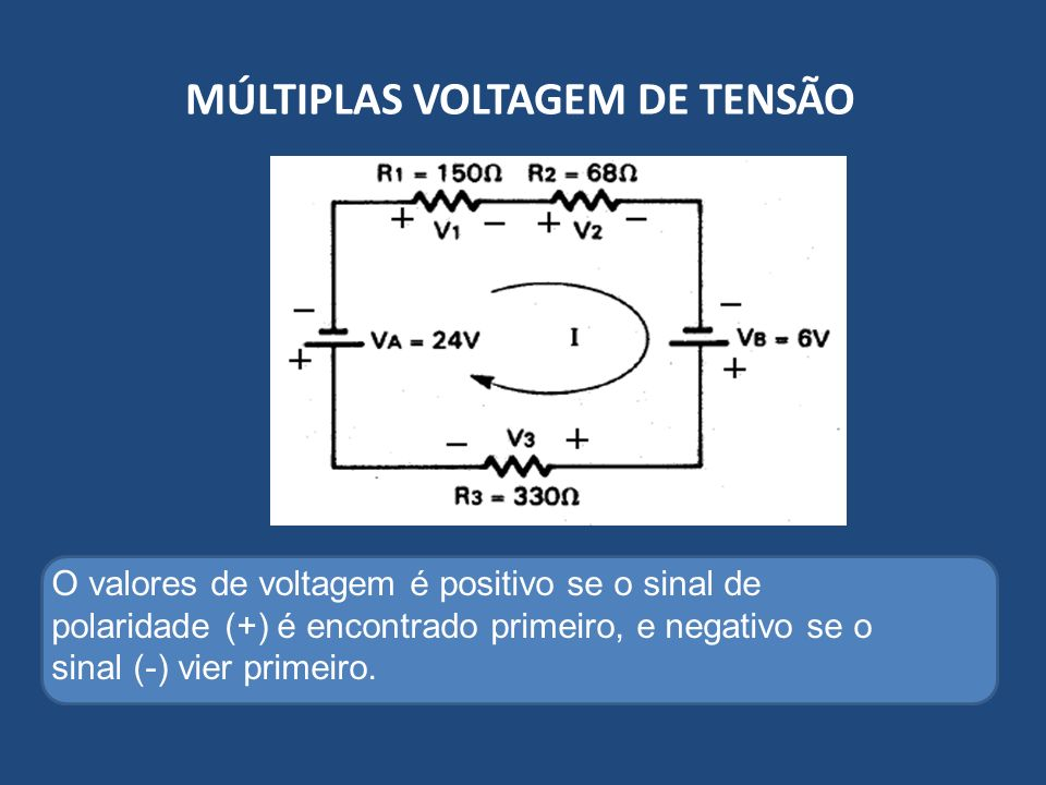 MÚLTIPLAS VOLTAGEM DE TENSÃO