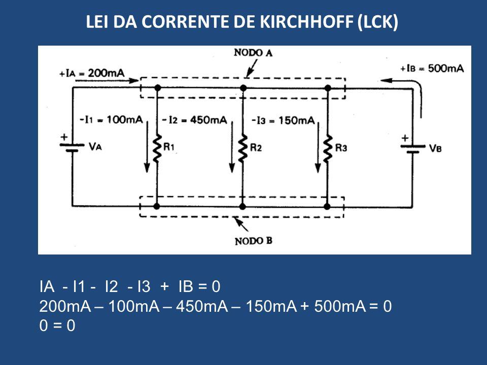LEI DA CORRENTE DE KIRCHHOFF (LCK)