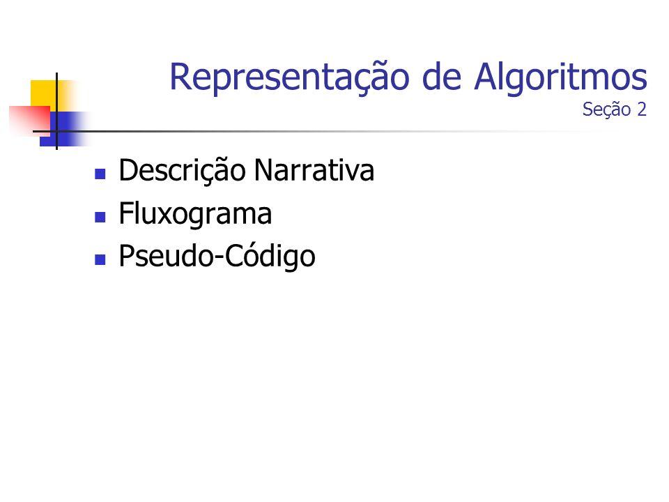 Representação de Algoritmos Seção 2