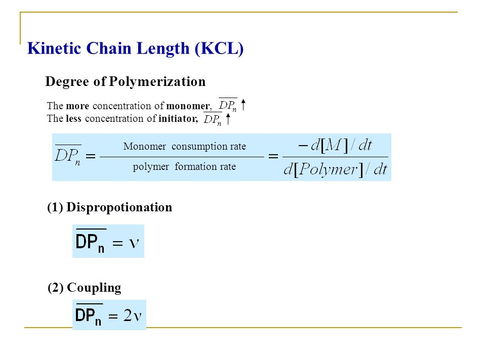 Kinetic Chain Length (KCL)