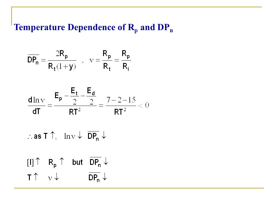 Temperature Dependence of Rp and DPn