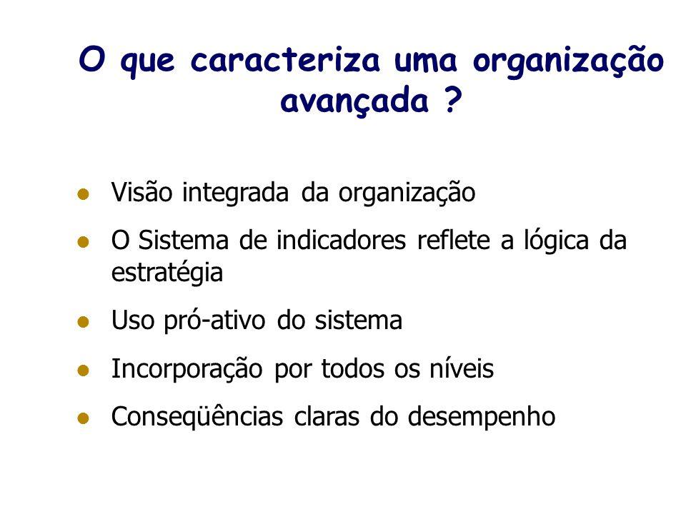 O que caracteriza uma organização avançada