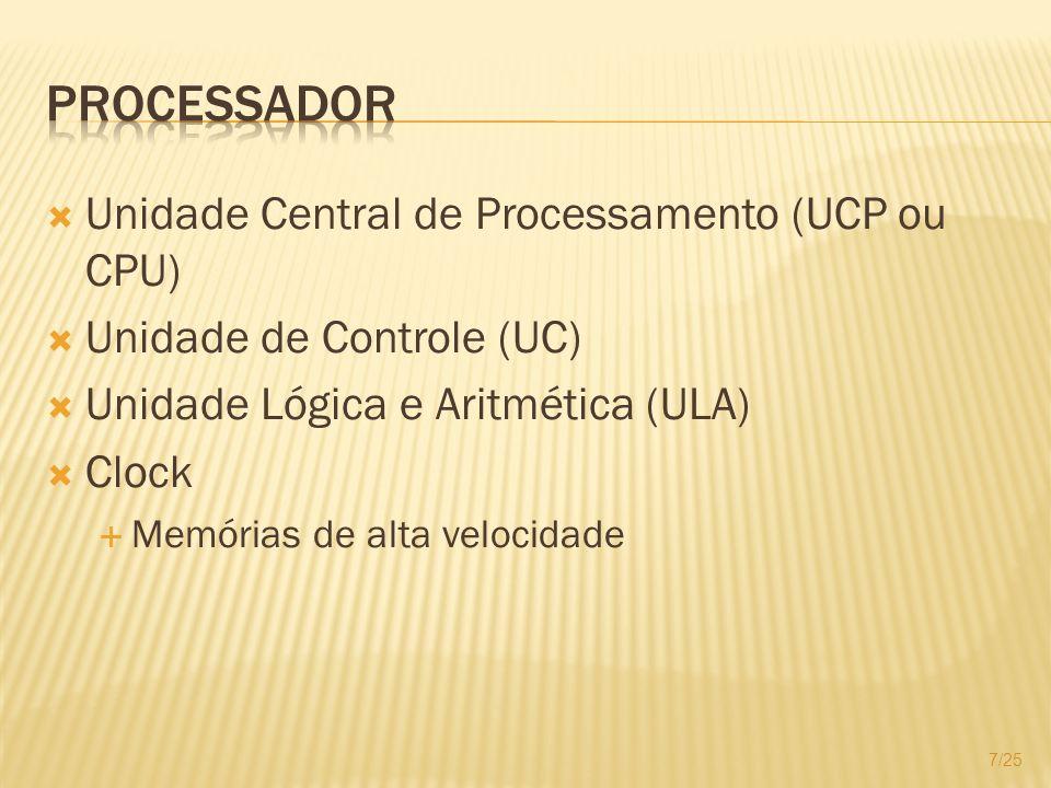 Processador Unidade Central de Processamento (UCP ou CPU)