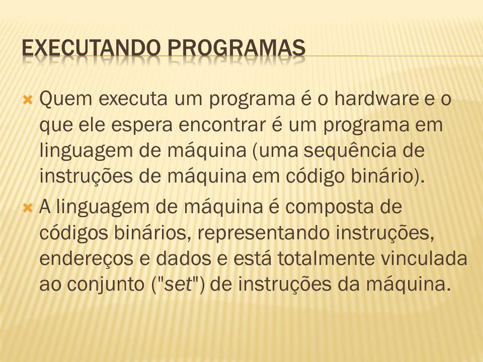Executando programas