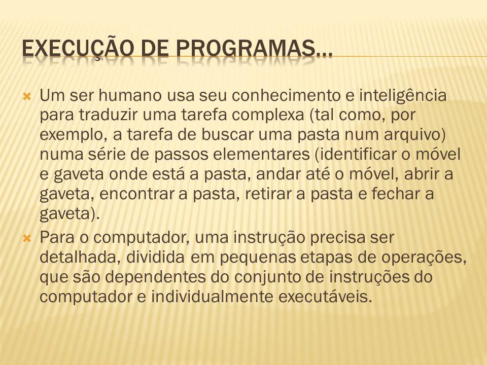 Execução de programas...
