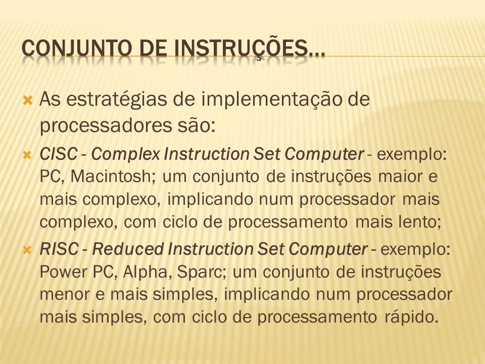 Conjunto de instruções...