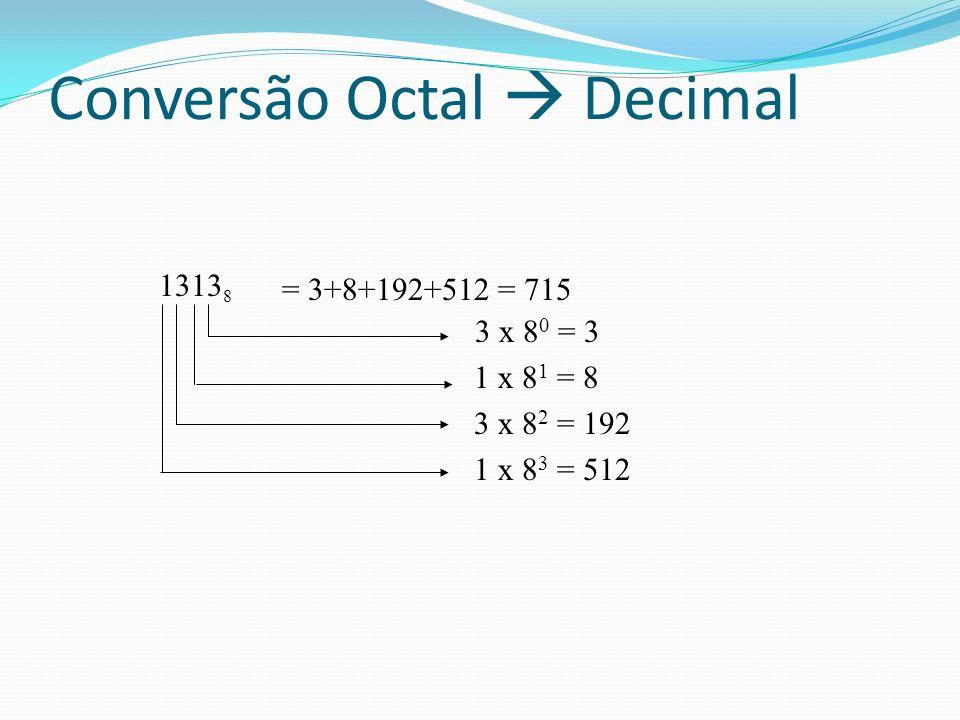 Conversão Octal  Decimal