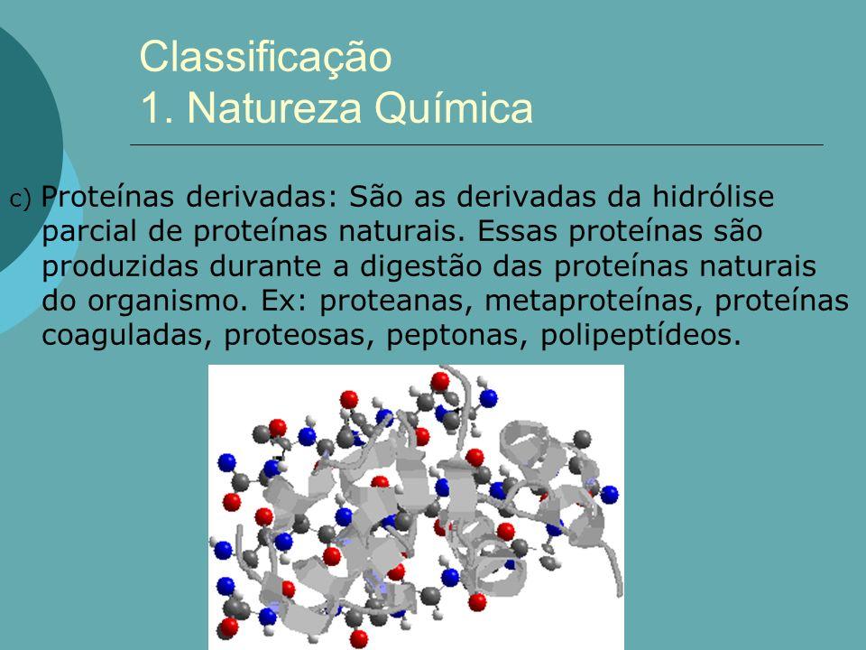 Classificação 1. Natureza Química