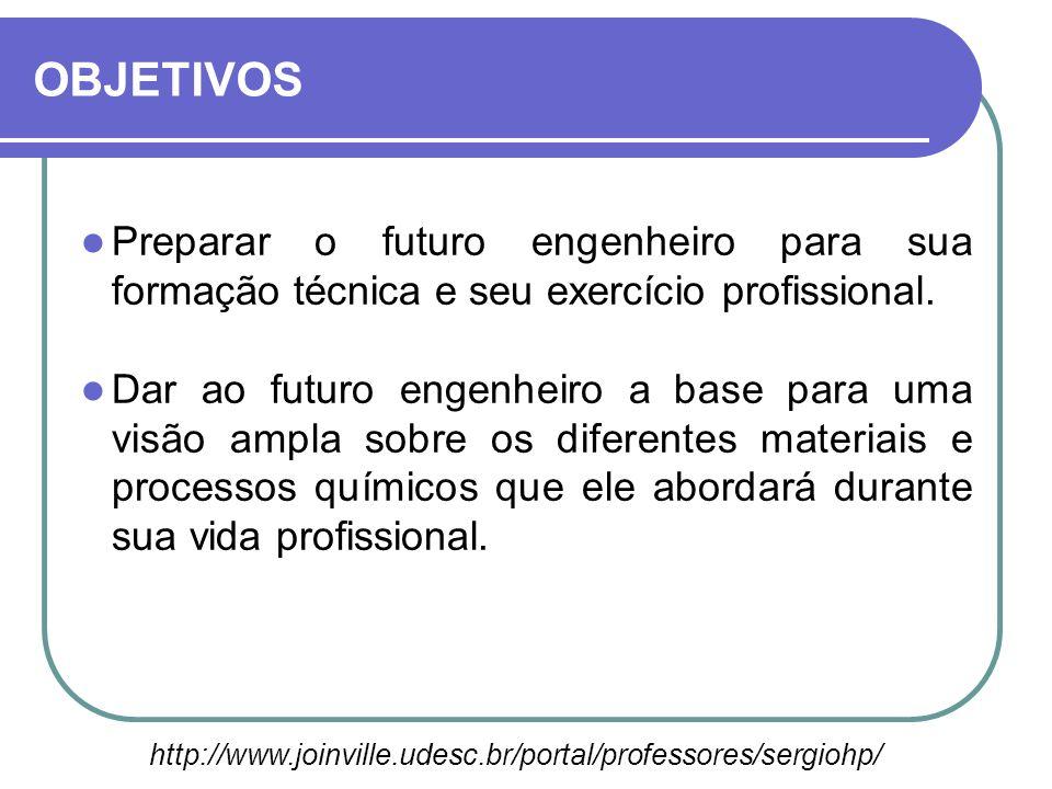 OBJETIVOS Preparar o futuro engenheiro para sua formação técnica e seu exercício profissional.