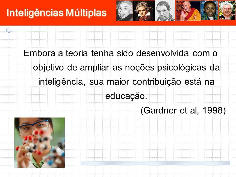 Embora a teoria tenha sido desenvolvida com o objetivo de ampliar as noções psicológicas da inteligência, sua maior contribuição está na educação.