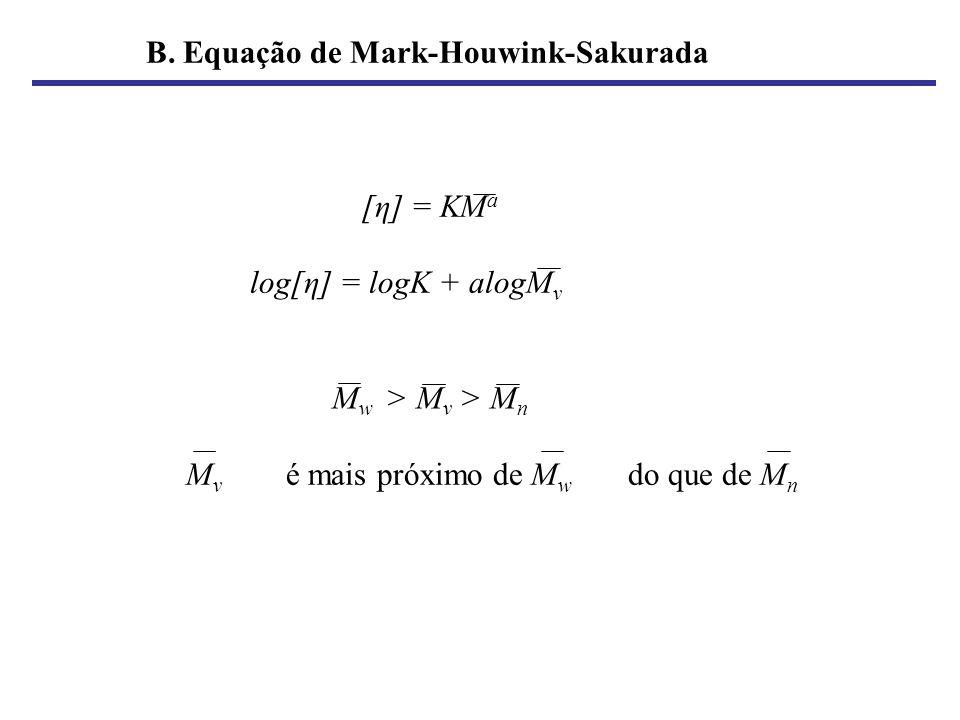 B. Equação de Mark-Houwink-Sakurada