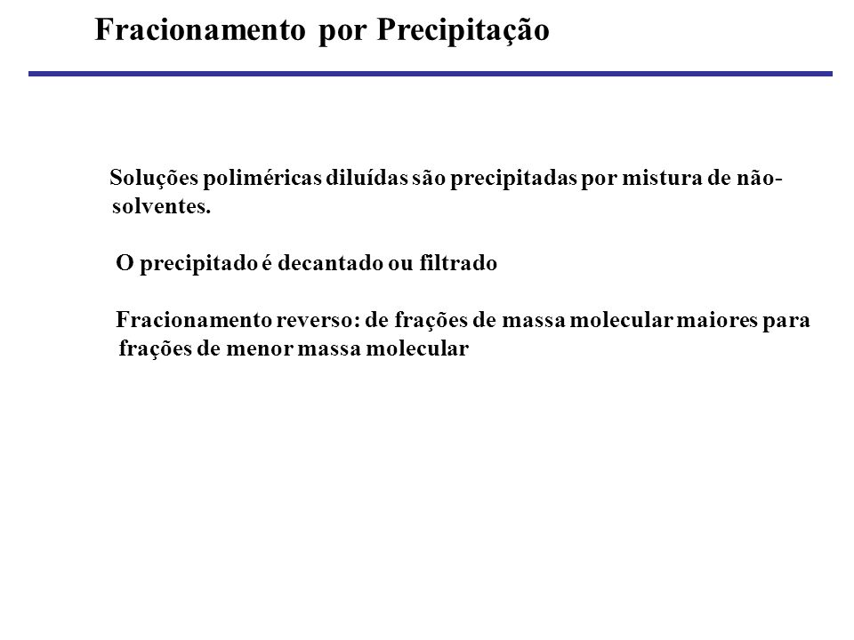 Fracionamento por Precipitação