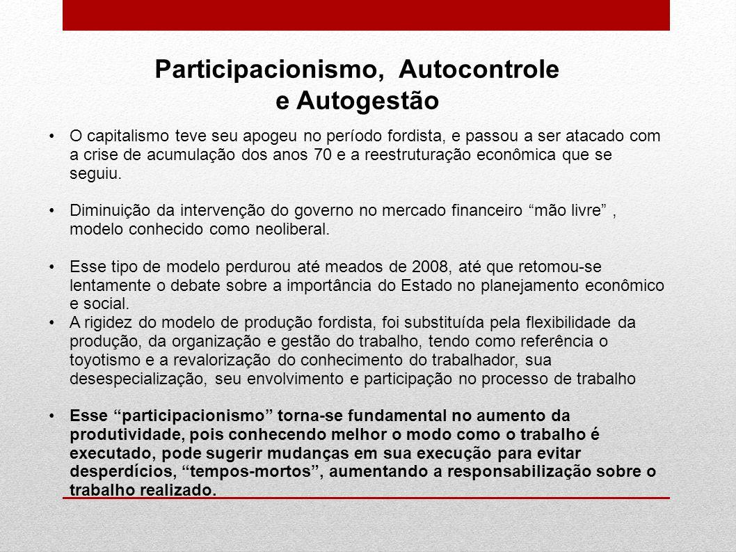 Participacionismo, Autocontrole e Autogestão