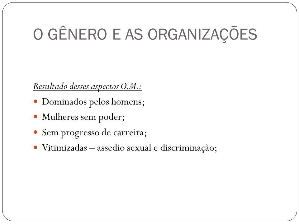 O GÊNERO E AS ORGANIZAÇÕES