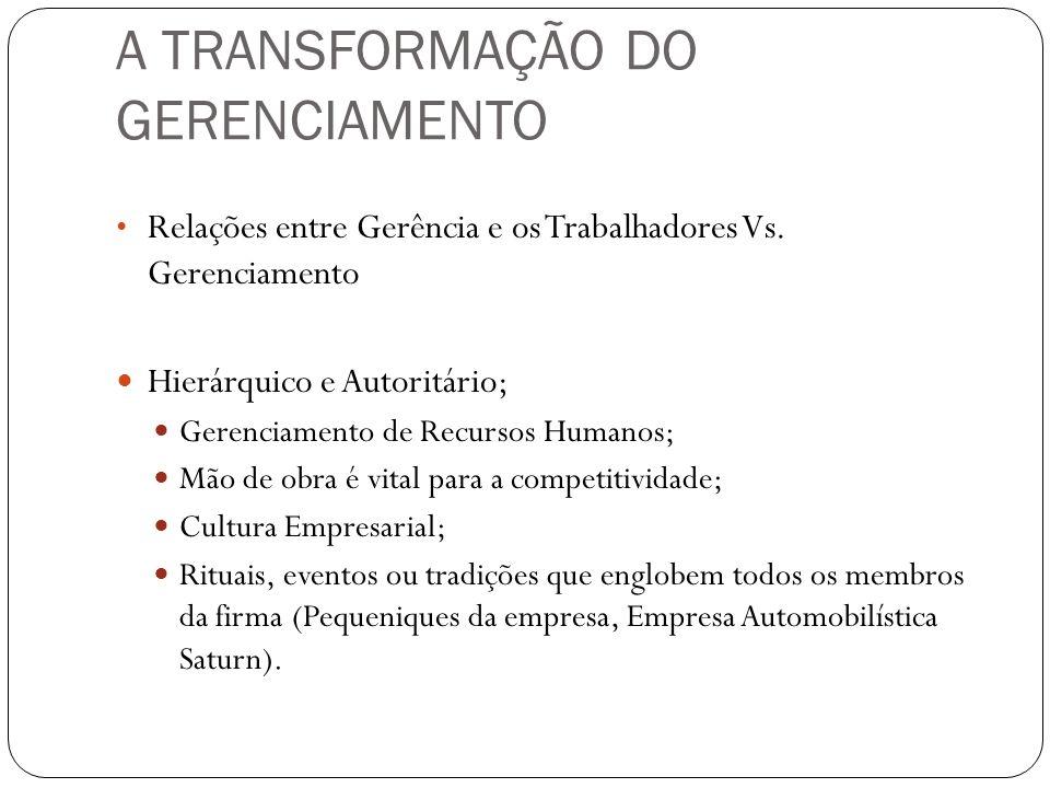 A TRANSFORMAÇÃO DO GERENCIAMENTO