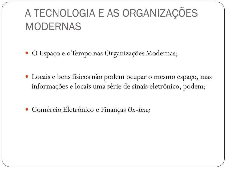 A TECNOLOGIA E AS ORGANIZAÇÕES MODERNAS