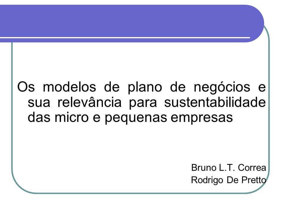 Os modelos de plano de negócios e sua relevância para sustentabilidade das micro e pequenas empresas