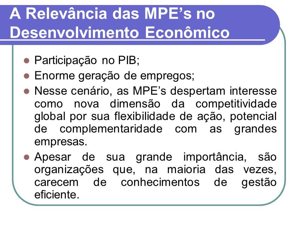 A Relevância das MPE's no Desenvolvimento Econômico