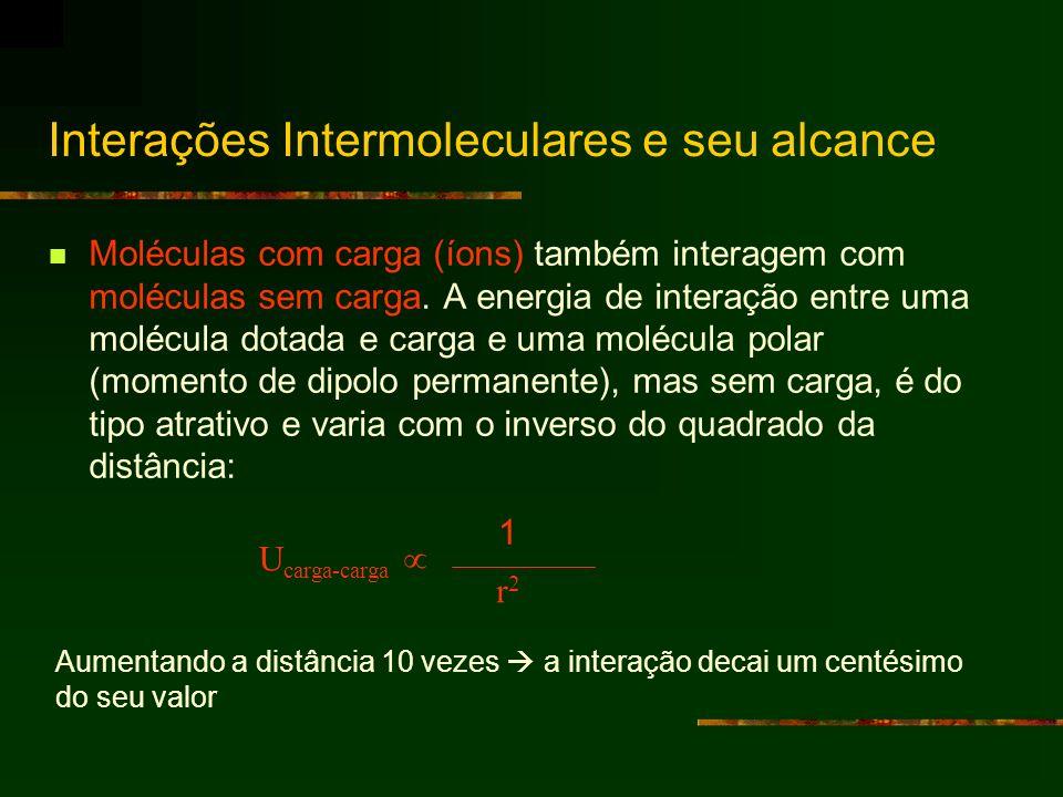 Interações Intermoleculares e seu alcance