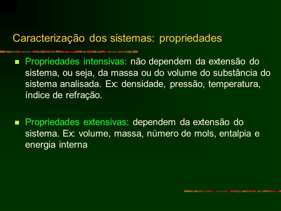 Caracterização dos sistemas: propriedades