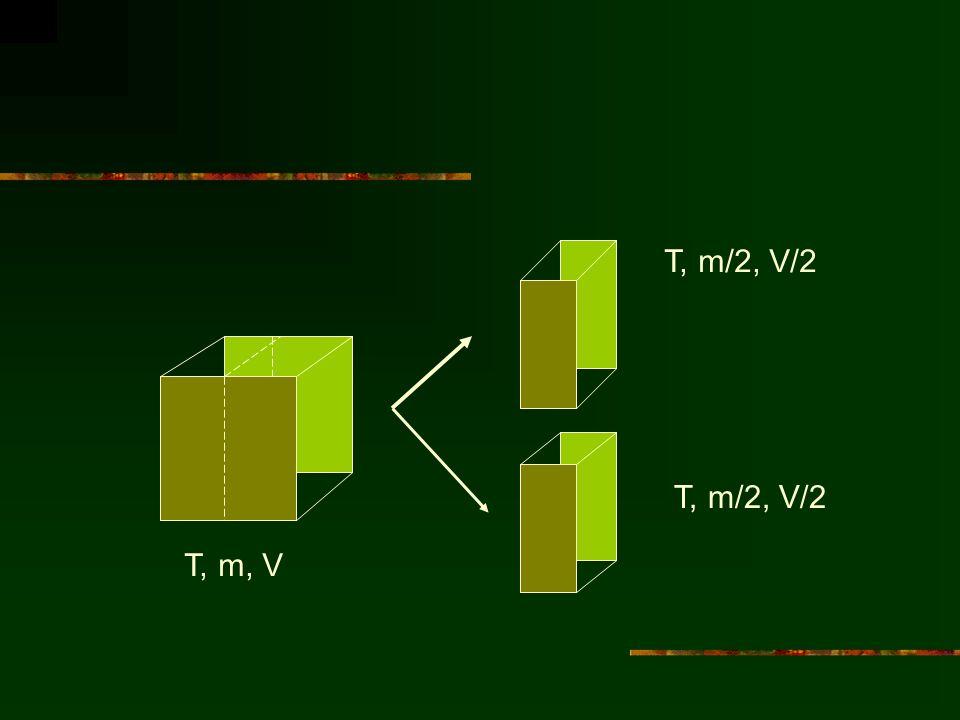 T, m/2, V/2 T, m/2, V/2 T, m, V