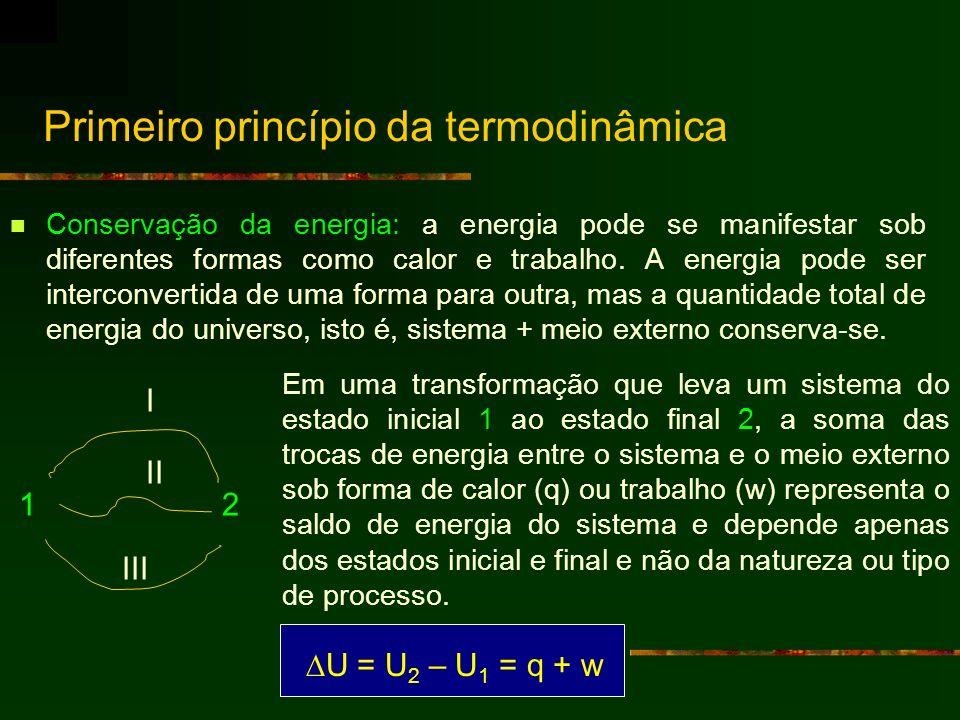 Primeiro princípio da termodinâmica