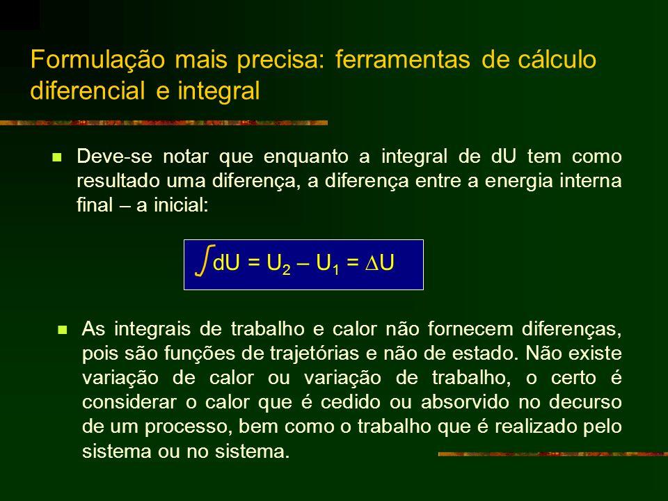Formulação mais precisa: ferramentas de cálculo diferencial e integral
