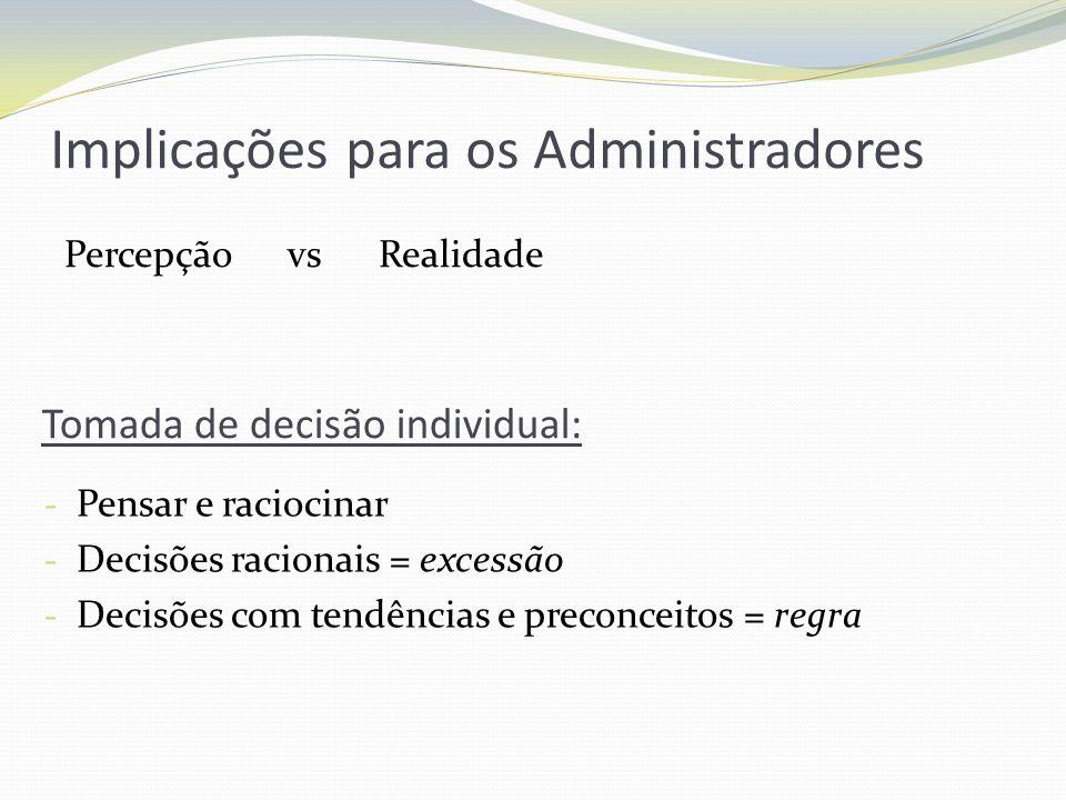 Implicações para os Administradores