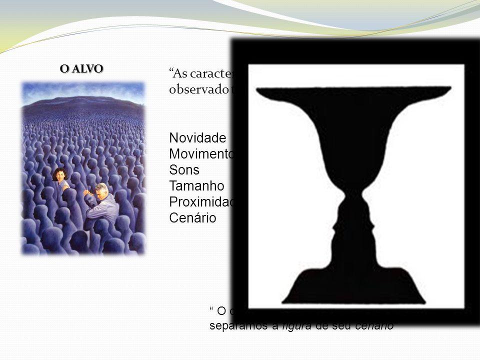 O ALVO As características do alvo que está sendo observado também podem afetar a percepção , Novidade.