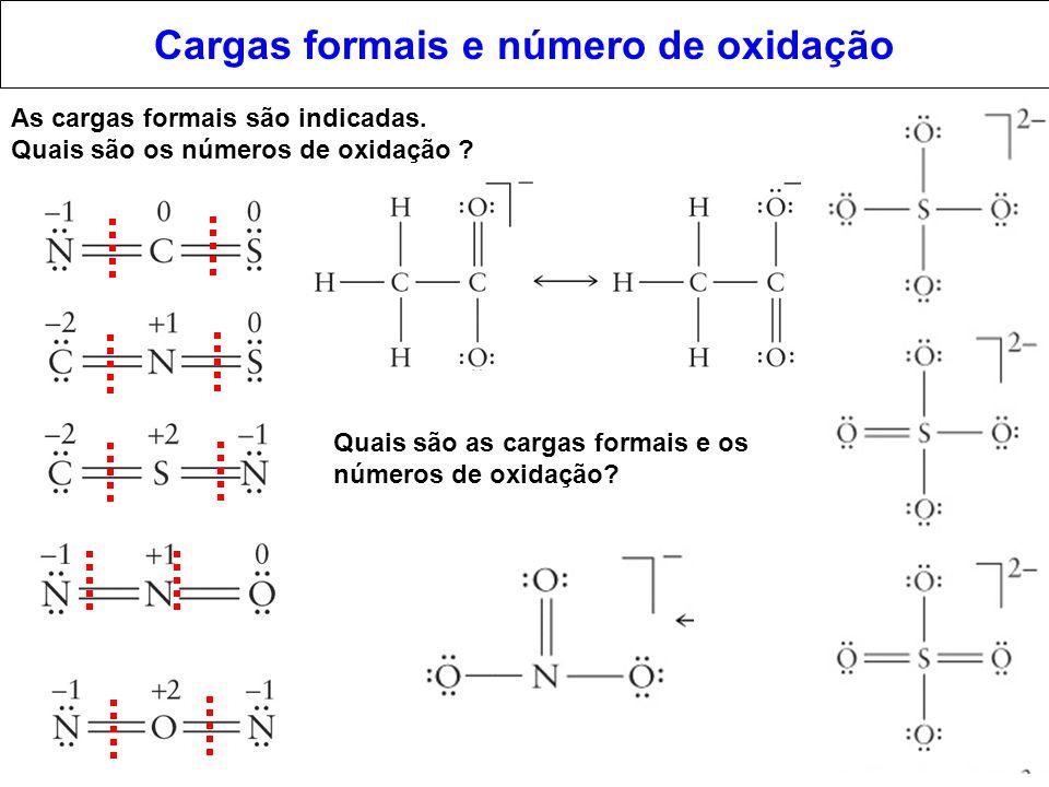 Cargas formais e número de oxidação