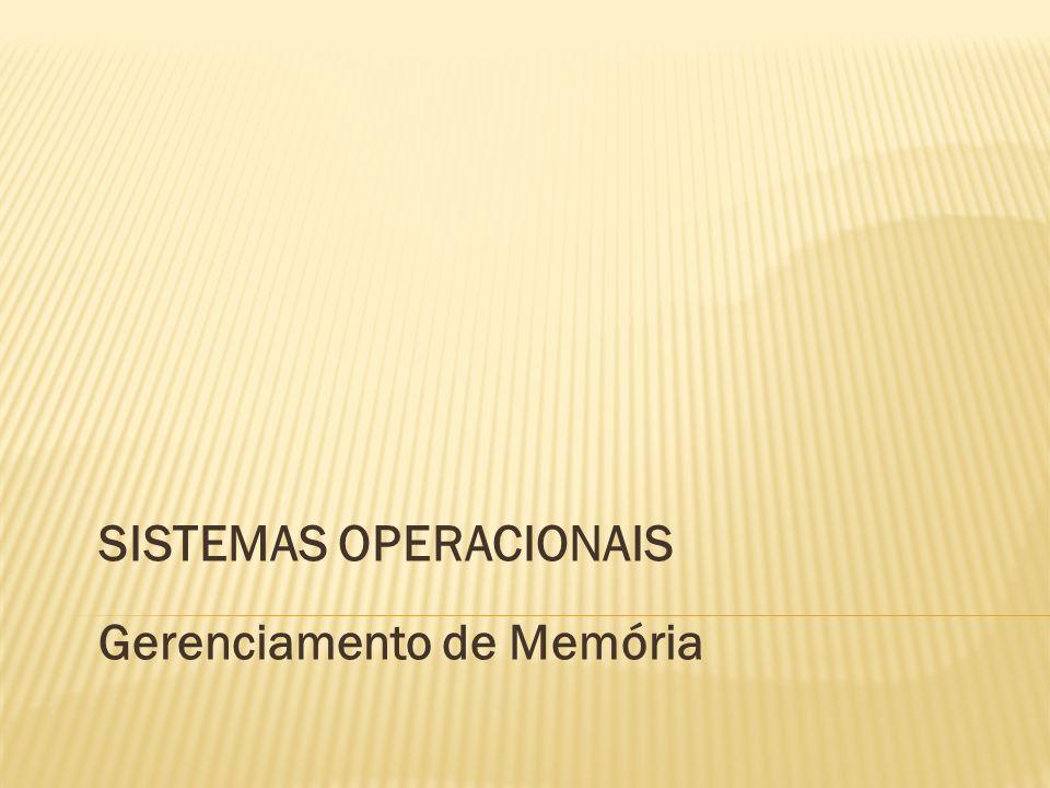 SISTEMAS OPERACIONAIS Gerenciamento de Memória