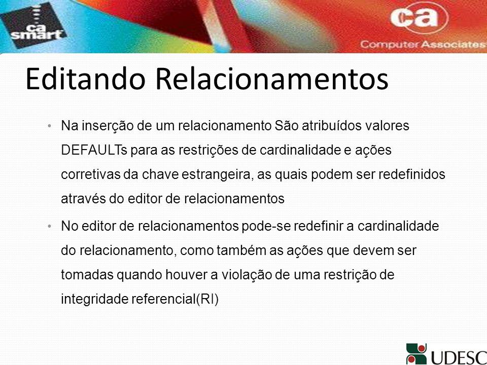 Editando Relacionamentos