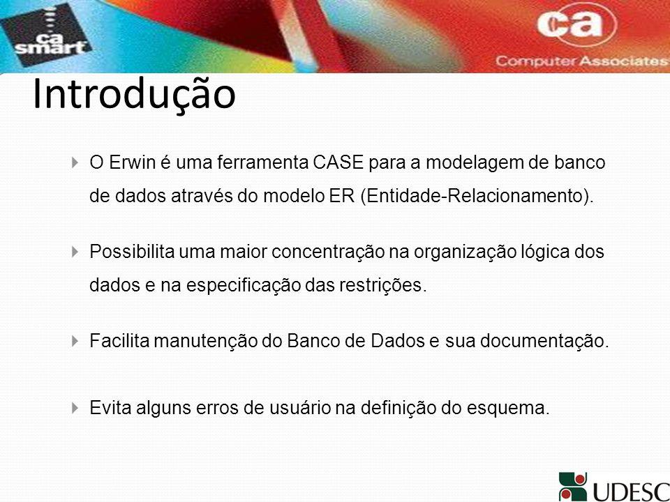 IntroduçãoO Erwin é uma ferramenta CASE para a modelagem de banco de dados através do modelo ER (Entidade-Relacionamento).