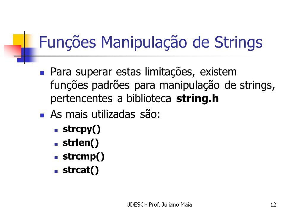 Funções Manipulação de Strings