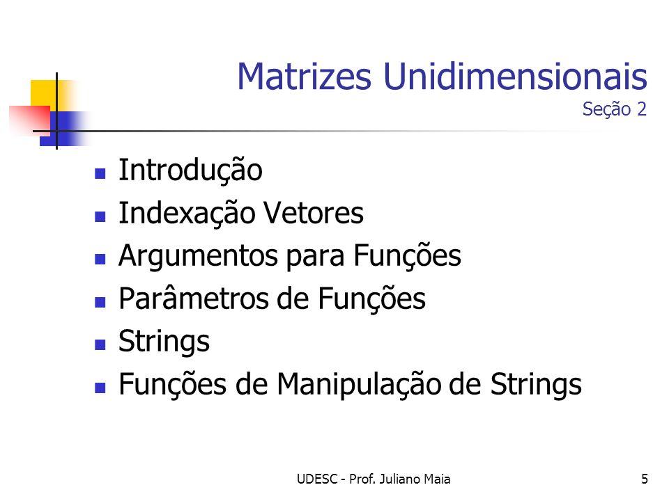 Matrizes Unidimensionais Seção 2